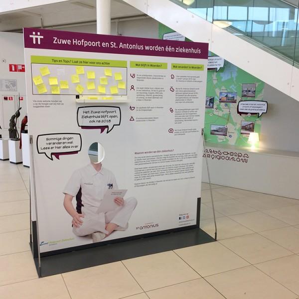 Hofpoort ziekenhuis pop-up wand